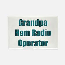 Grandpa Ham Radio Operator Rectangle Magnet