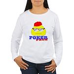 Poker Face (Spade) Women's Long Sleeve T-Shirt