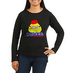 Poker Face (Spade) Women's Long Sleeve Dark T-Shir