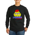 Poker Face (Spade) Long Sleeve Dark T-Shirt