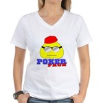 Poker Face (Spade) Women's V-Neck T-Shirt