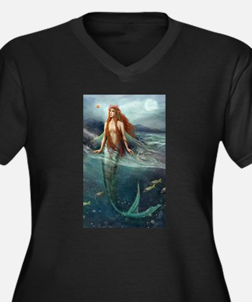 Mermaid of Coral Sea Plus Size T-Shirt