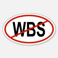 WBS Oval Decal