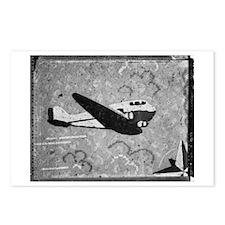 Plane Linoleum Postcards (Package of 8)