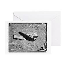 Plane Linoleum Greeting Cards (Pk of 10)