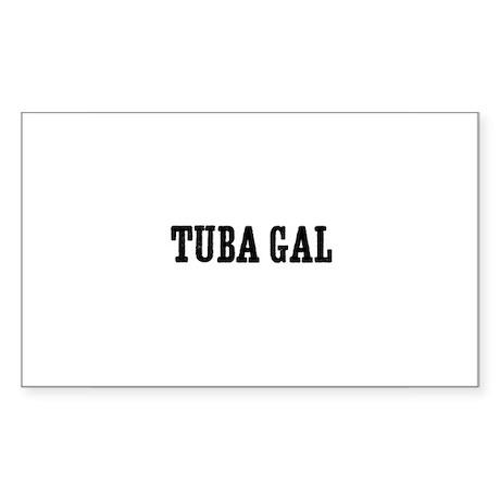 Tuba gal Rectangle Sticker