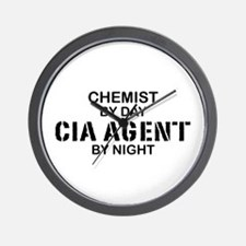 Chemist CIA Agent Wall Clock
