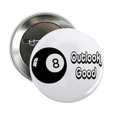 """Magic 8 Ball Outlook Good 2.25"""" Button"""