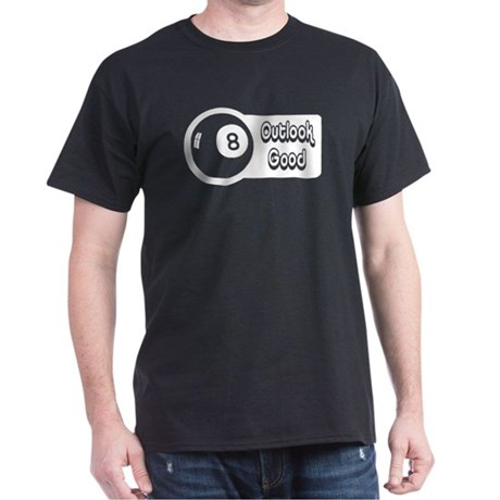 Magic 8 Ball Outlook Good Dark T-Shirt