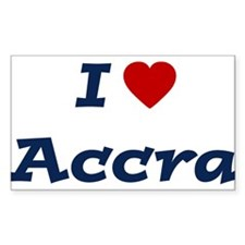I HEART ACCRA Rectangle Decal