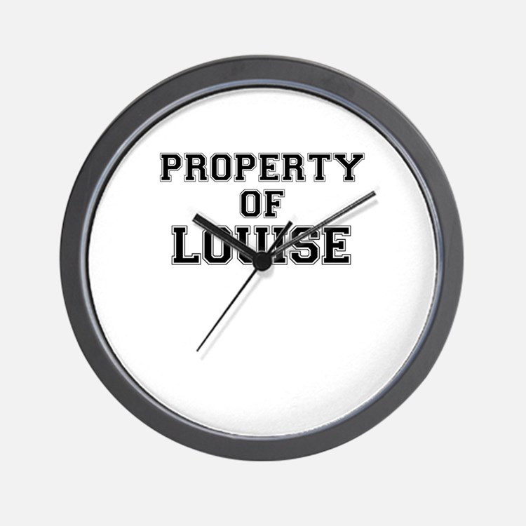 Property of LOUISE Wall Clock