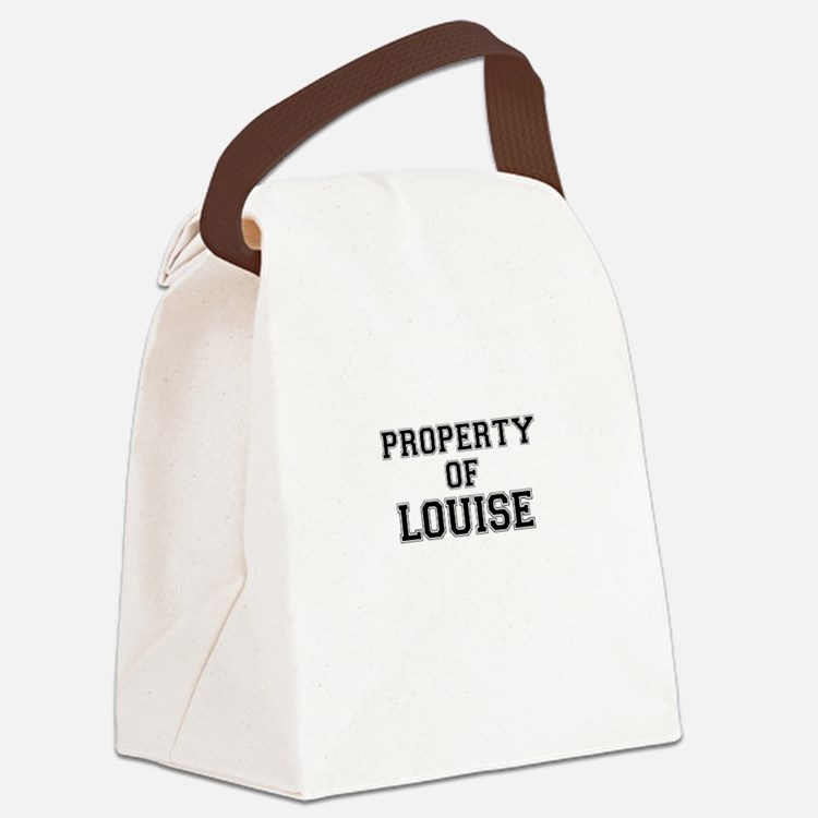 Property of LOUISE Canvas Lunch Bag