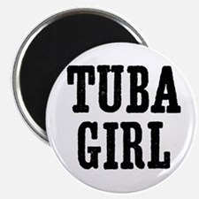 "Tuba girl 2.25"" Magnet (10 pack)"
