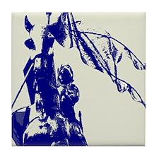 Spanish Blue Letter Maid of Orleans Tile