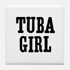Tuba girl Tile Coaster