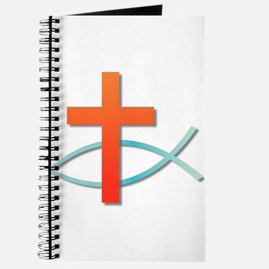 Christian cross fish Journal