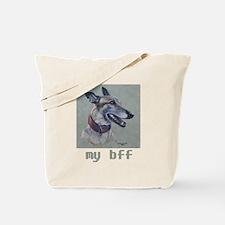 bff Greyhound Tote Bag