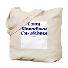 Therefore I'm skinny NAVY Tote Bag