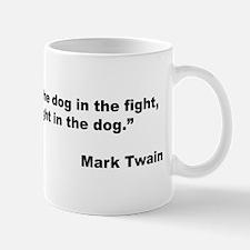 Mark Twain Dog Size Quote Mug