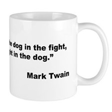 Mark Twain Dog Size Quote Mug