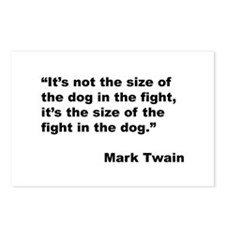 Mark Twain Dog Size Quote Postcards (Package of 8)
