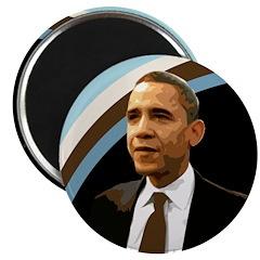 Optimistic Barack Obama Magnet