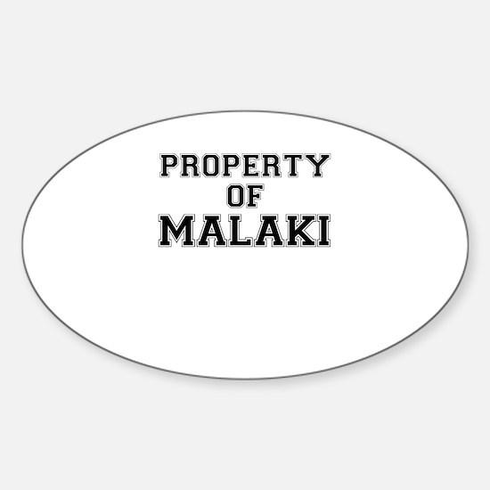 Property of MALAKI Decal