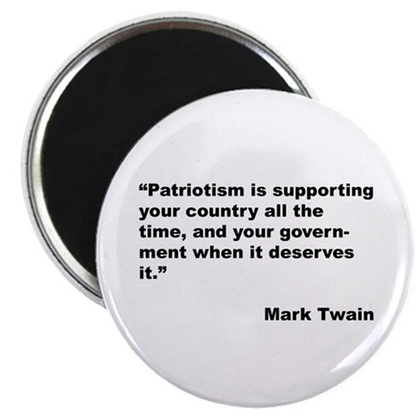 mark twain essay on patriotism As regards patriotism is a brief, insightful, and critical commentary by mark twain regarding patriotism twain asserts: 'patriotism is merely a religion.