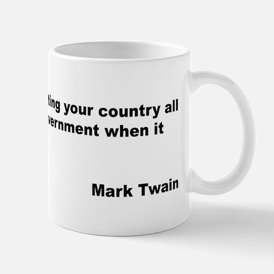 Mark Twain Quote on Patriotism Mug