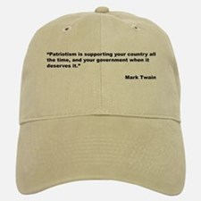 Mark Twain Quote on Patriotism Baseball Baseball Cap
