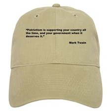 Mark Twain Quote on Patriotism Baseball Cap