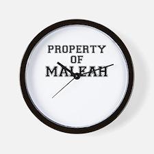 Property of MALEAH Wall Clock