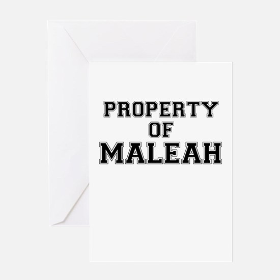 Property of MALEAH Greeting Cards