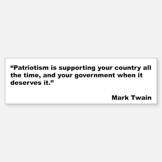 Mark Twain Quote on Patriotism Bumper Bumper Bumper Sticker