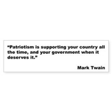 Mark Twain Quote on Patriotism Bumper Bumper Sticker
