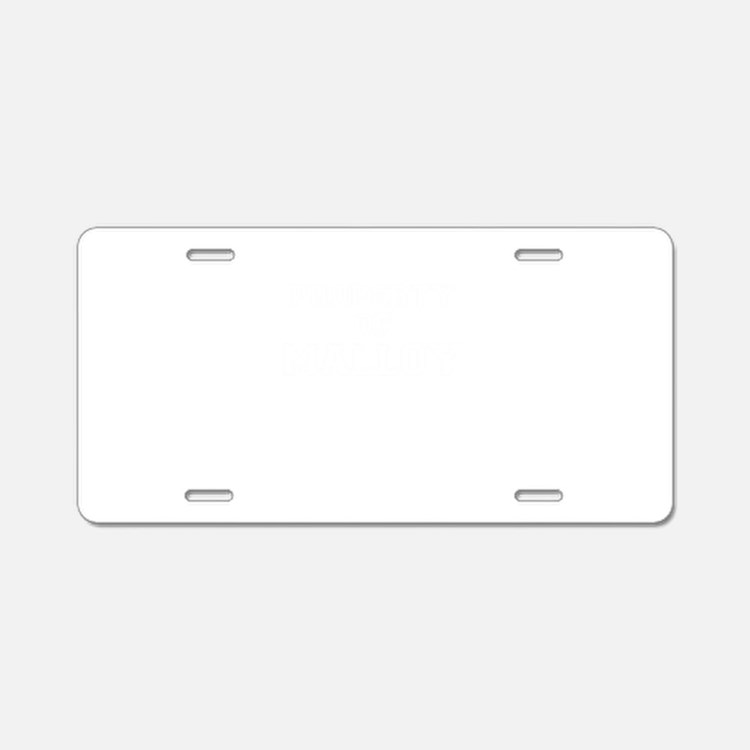 Property of MALLOY Aluminum License Plate
