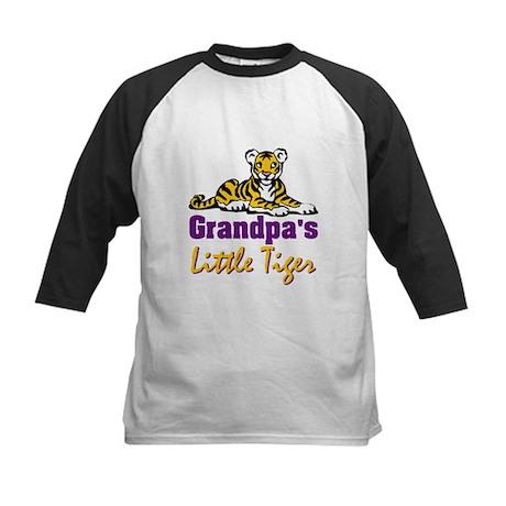 Grandpa's Little Tiger Kids Baseball Jersey