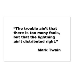 Mark Twain Quote on Fools Postcards (Package of 8)