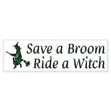 Ride a Witch Bumper Bumper Sticker