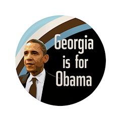 Georgia for Obama Xtra Large Button