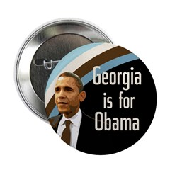 Georgia is for Obama Campaign Button