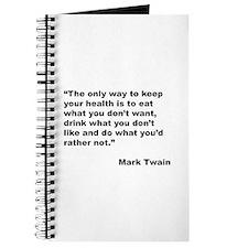 Mark Twain Quote on Health Journal