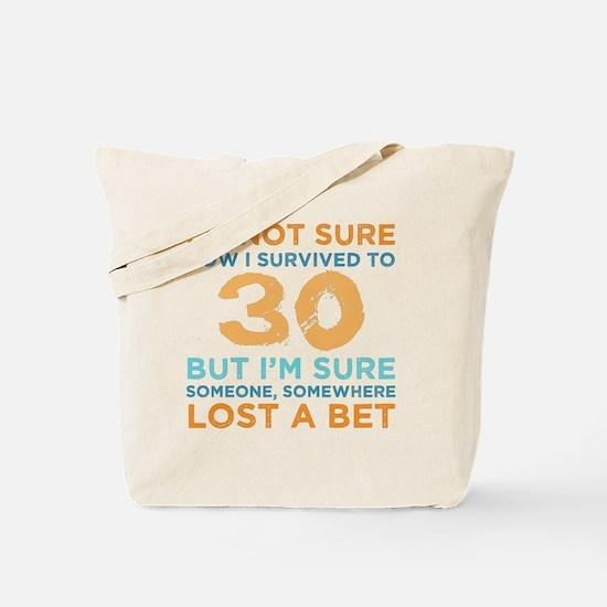 Unique 30th birthday mens Tote Bag