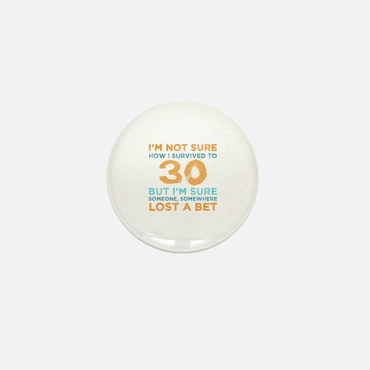 Cute Husbands 30th birthday Mini Button