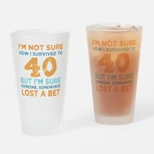 Funny Men 40th birthday Drinking Glass