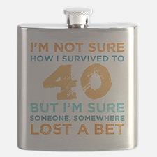 Unique 40th birthday men Flask