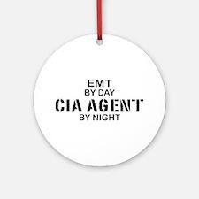 EMT CIA Agent Ornament (Round)