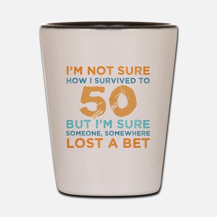 Cute Birthday gag 50 Shot Glass