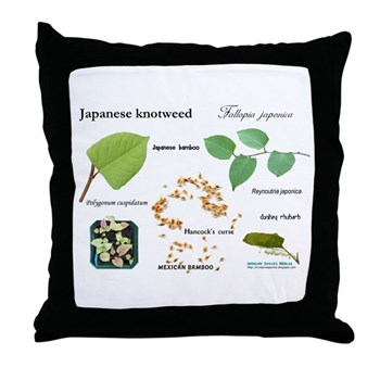 Japanese Knotweed Throw Pillow