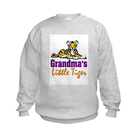 Grandma's Little Tiger Kids Sweatshirt
